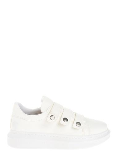 Derigo Bant Detaylı Ayakkabı Beyaz